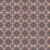 Vector seamless pattern. Stylish geometric seamless texture of colored hexagons. — Stock Vector