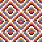 Parlak renkli geometrik seamless modeli — Stok Vektör
