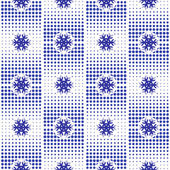 Seamless New Year's Abstract Pattern With Snowflakes On Background Pixel — Stock Vector