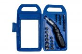 Caixa de ferramentas com chave de fenda articulado — Fotografia Stock