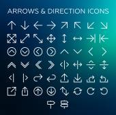 Arrows & Direction icons — Stock Vector