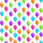 fliegende luftballons — Stockvektor  #52878395