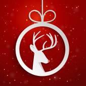 Christmas applique background. — Stock Vector