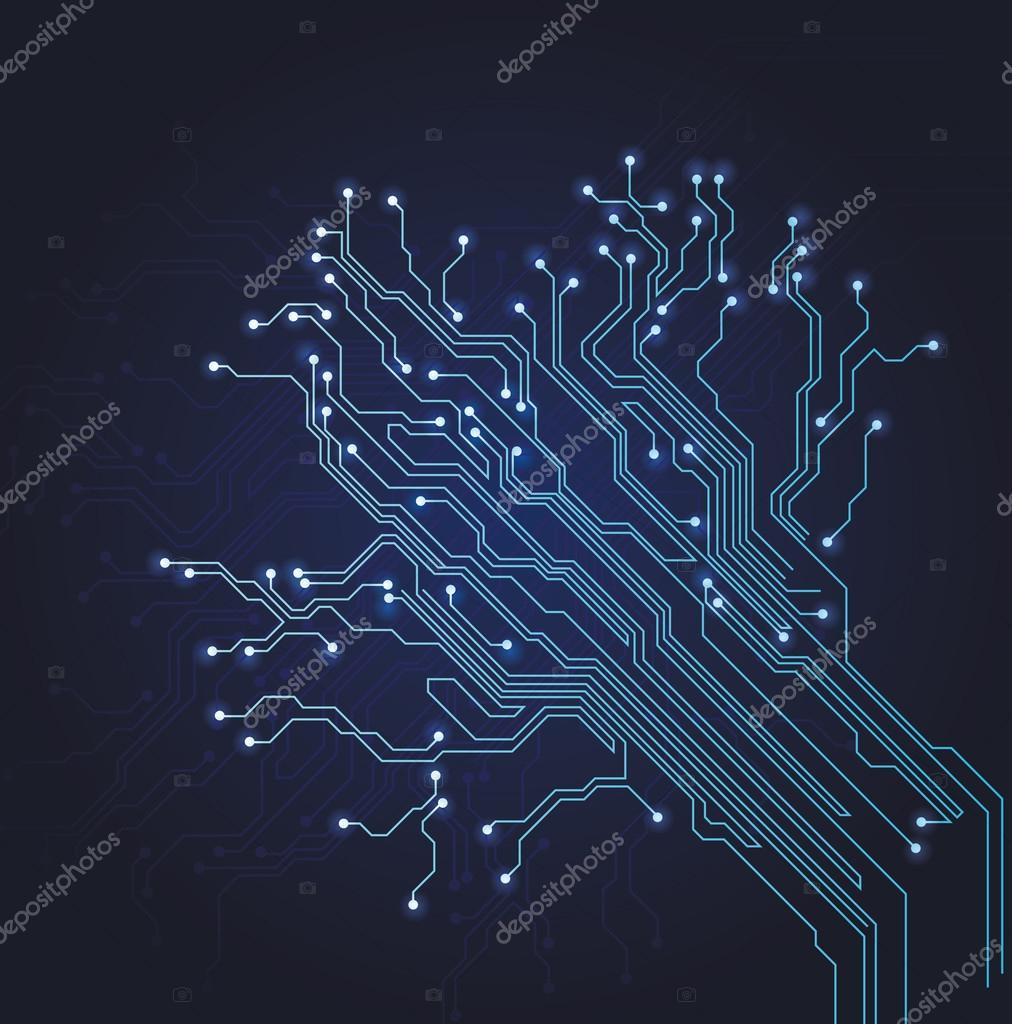 抽象的电路板图– 图库插图