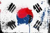 флаг южной кореи гранж — Cтоковый вектор