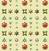Geometrical flora pattern — Stock Vector