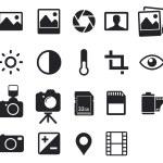 Photo icons — Stock Vector #52892865