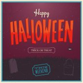Happy Halloween Poster. — Stock Vector