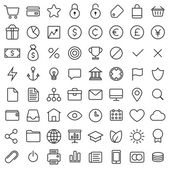 64 Thin Icons Set. — Stock Vector