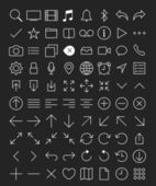 80 Thin Icons Set. — Stock Vector