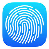Fingerprint App icon — Stock Vector