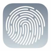 Fingerprint App icon — Vetorial Stock