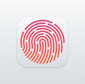 Fingerprint App icon — Stock Vector