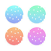 Fingerprint set Illustration — Stock Vector