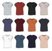 T-shirt template — Stock Vector