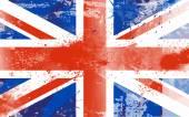 Grunge United Kingdom flag illustration — Stock Vector