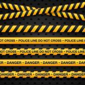 Police line and danger tapes — Stock Vector
