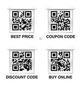 Collection of marketing related qr codes — Stock Vector