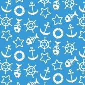 Seamless oceanic pattern. — Stock Vector