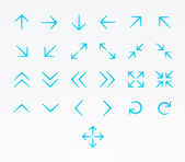 Arrow icon set — Stock Vector