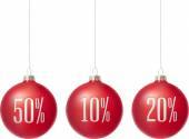 Merry Christmas sale baubles — Stockvector