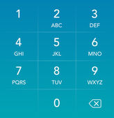 Interfaz hud teclado del teléfono — Vector de stock