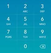 Phone Keyboard HUD Interface — Stock Vector