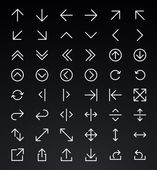 Line Arrow icon set. Vector — Stock Vector