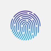 ID app icon. Fingerprint vector illustration — Stock Vector