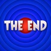 Movie ending screen. Vector — Stock Vector
