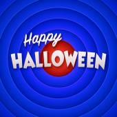 Movie ending screen with Happy Halloween label. Vector — Stock Vector