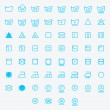 Icon set of laundry symbols. Vector illustration — Stock Vector #61365879