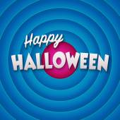 Movie ending screen with Happy Halloween label. Vector — Stockvector