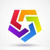 Abstract Star logo. Vector illustration — Stock Vector