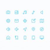 Outline vector icons for web and mobile. Thin 2 pixel stroke & 60x60 resolution. — Stockvector