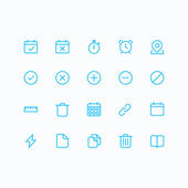 Outline vector icons for web and mobile. Thin 2 pixel stroke & 60x60 resolution. — Stock Vector