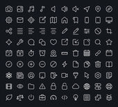 Outline vector icons for web and mobile. Thin 1 pixel stroke & 60x60 resolution. — Vector de stock