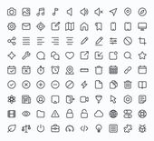 Outline vector icons for web and mobile. Thin 1 pixel stroke & 60x60 resolution. — Stock Vector