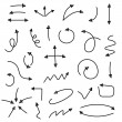 Sketch arrow set. Vector illustration for your business and education design. Elements for design. Easy to edit. — Stock Vector #68467379
