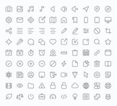 Outline vector icons for web and mobile — Stock Vector