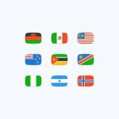 Lijst van vlaggen van de wereld — Stockvector