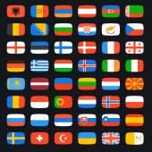 Bandera del mundo — Vector de stock