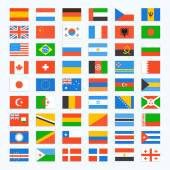 Flag of world. — Stock Vector