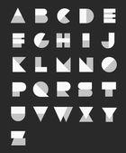 Geometric Paper Alphabet — Stock Vector