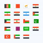 Middle Eastern Country Flag. — Stock Vector