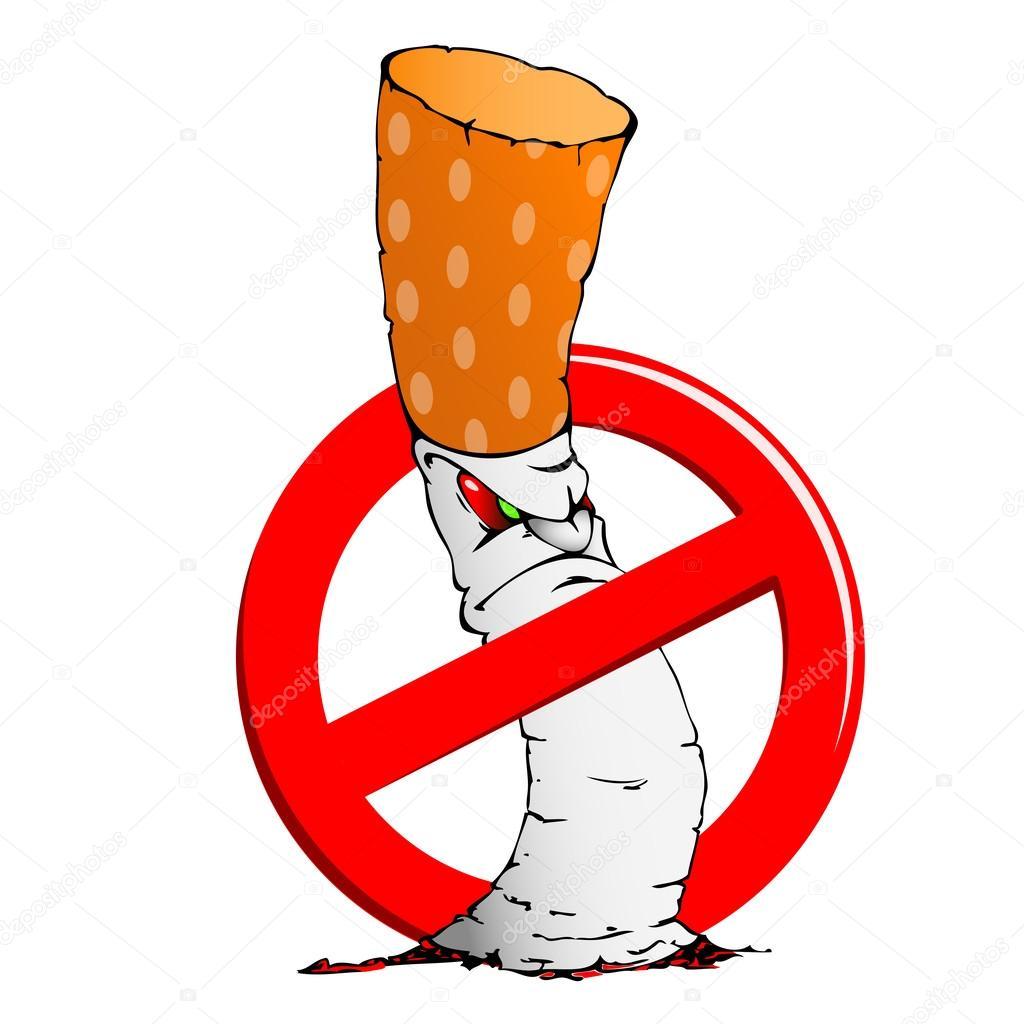 Aucun Signe De Vecteur De Fumer Stock Vecteur Libres de