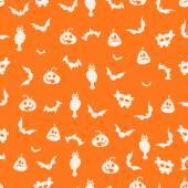 Seamless orange halloween background - Illustration — Stock Vector