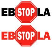2 stop sign Ebola virus — Stock Vector