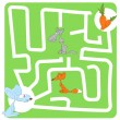 Game for Children with Hare and Carrot — Stock vektor #56542255