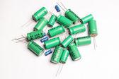 Capacitors radio parts — Stock fotografie